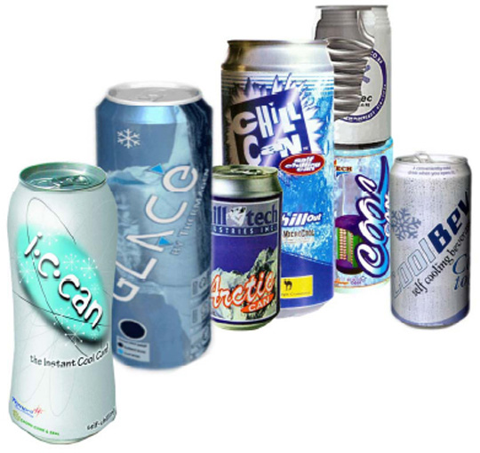 Field of opportunities or graveyard of dreams? Examples of some of the many commercially unsuccessful self-cooling packaging - Source: Packaging Materials & Technologies Ltd