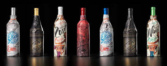 TRUETT-HURST EVOCATIVE WRAPPED BOTTLE SERIES