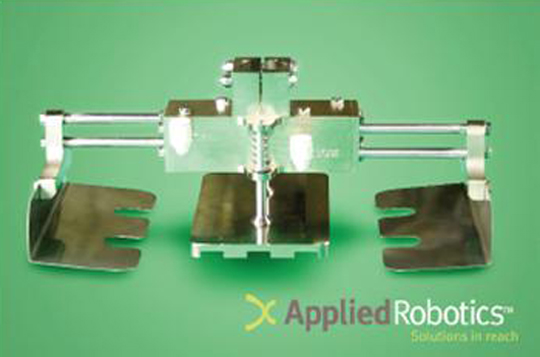 The Meat Gripper by Applied Robotics is a USDA and FDA approved end-of-arm tool used for picking, placing, and handling meat, poultry and fish products.