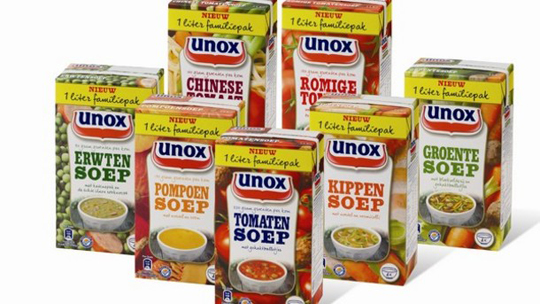 Unilever in the Netherlands moved for ts soups from metal cans to aseptic bricks