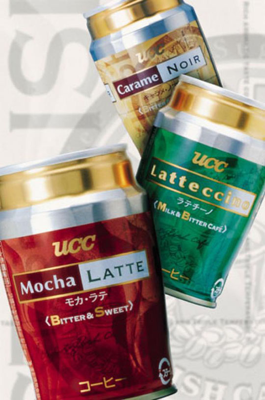 Vending machine cans of UCC Ueshima Coffee Co, Japan