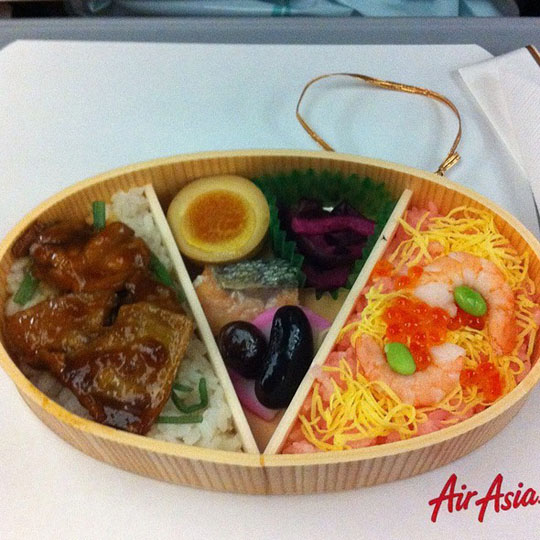 Japanese bento at AirAsia