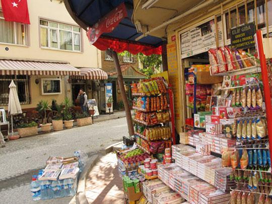 A neighbourhood shop in Turkey