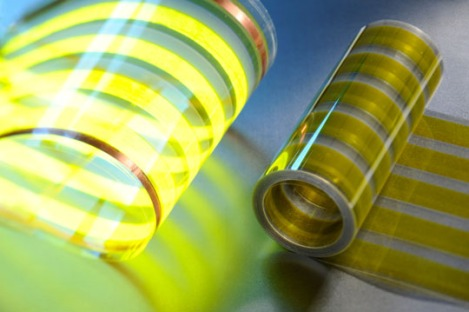 A large surface light emitting plastic film developed by vtt is based on oled technology - photo Juha Sarkkinen