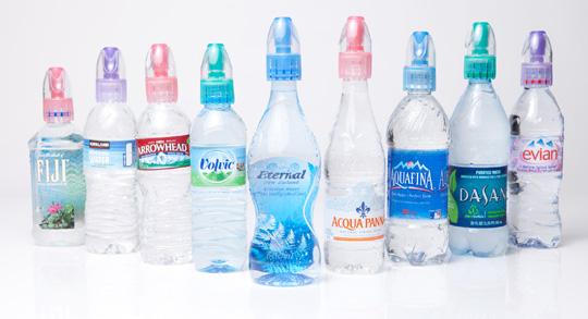 9 Evian Bottle Sealed Lids caps Hide Alcohol For Festivals arenas